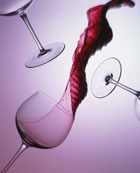 Self promotion Wine Glass Spilling